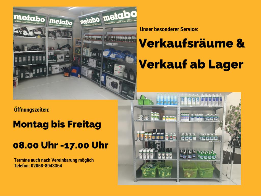 Verkaufsräume und Ware ab Lager IHP Service, Wülfrath
