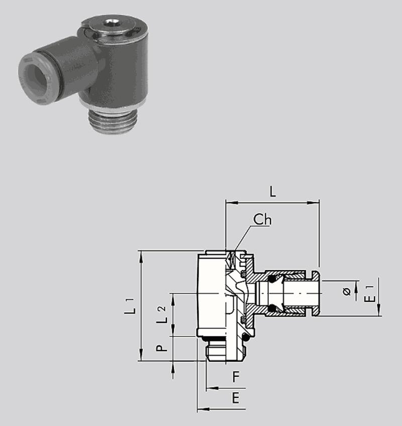 L-Schwenkverschraubung R20