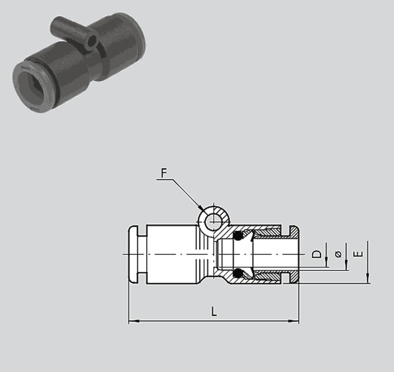 Technopolymer Verschraubungen gerader Schlauchverbinder R19