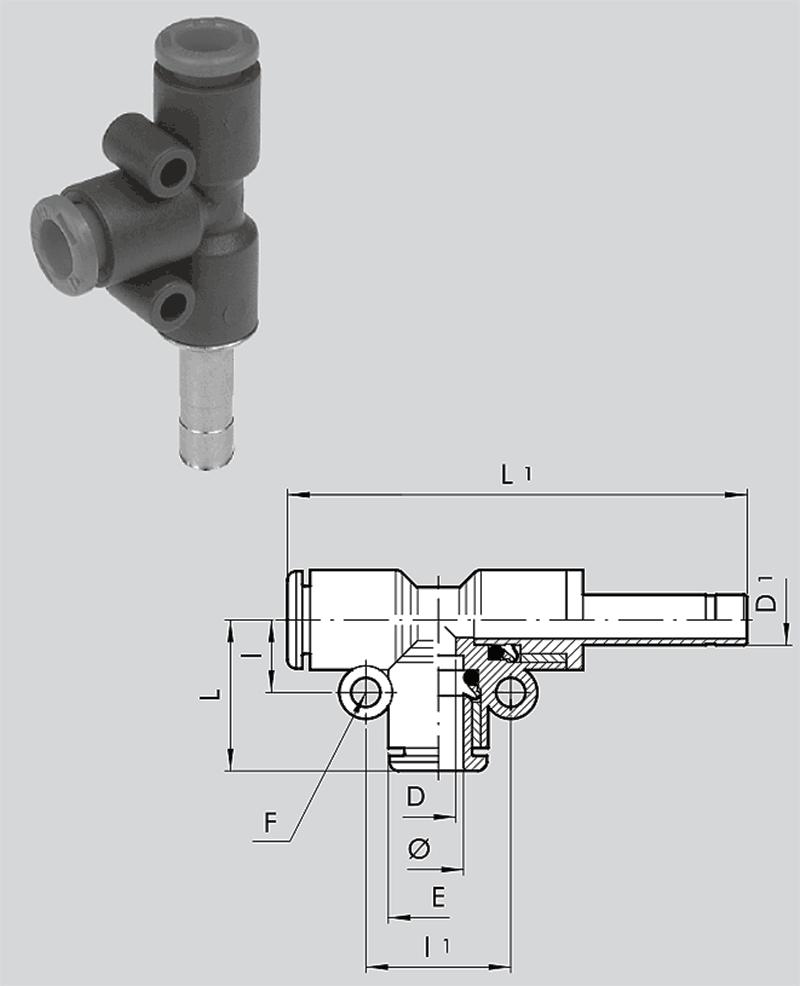 T-Steckanschluss seitlich RL49