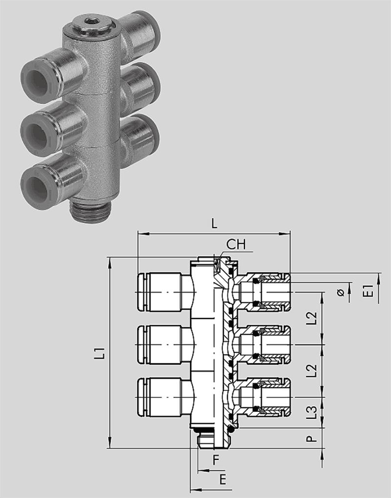 Dreifach-T-Schwenkverschr   RL53