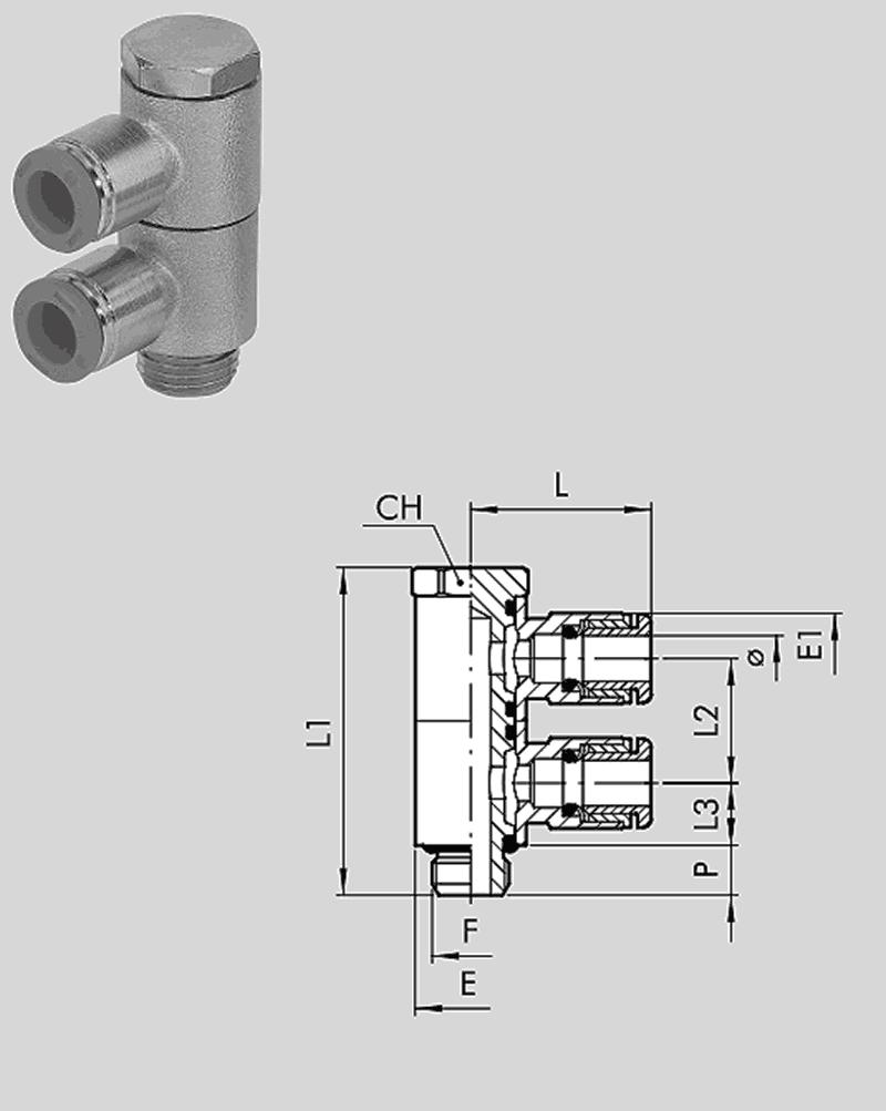 Doppel-L-Schwenkverschraubung RL56