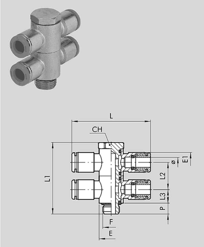 Doppel-T-Schwenkverschraubg RL57