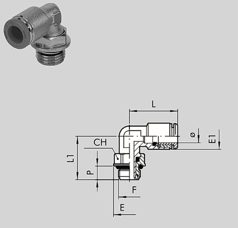 Winkelschwenkverschraubung R31  RL 31